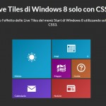 Live Tiles di Windows 8 solo con CSS3